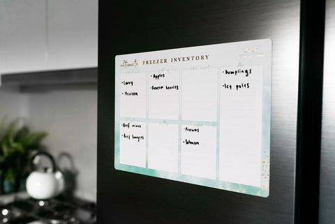 A4 Freezer Inventory Meal Plan Magnet