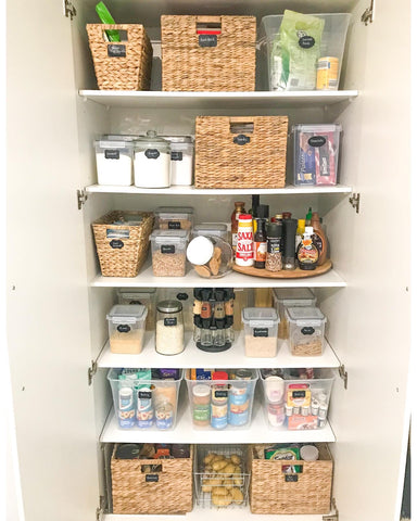 Complete pantry organisation
