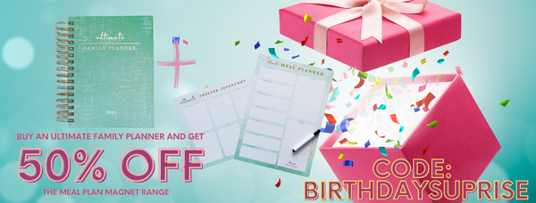 Buy the Ultimate Family PLanner get magnets 50% off