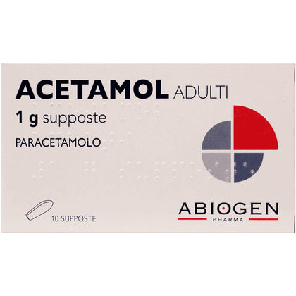 ACETAMOL ADULTI 10 SUPPOSTE 1G