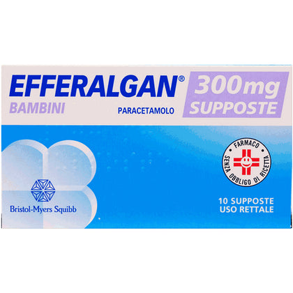 EFFERALGAN 10 SUPPOSTE 300MG