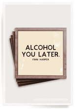 Load image into Gallery viewer, Alcohol You Later Copper & Glass Coasters (4)