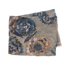 Load image into Gallery viewer, Brushstroke Floral Scarf- Beige