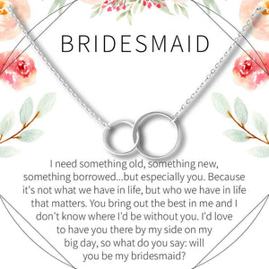 Bridesmaid Necklace- Silver