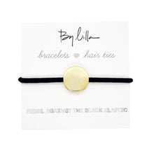 Load image into Gallery viewer, Medallion Black Hair Tie/Bracelet