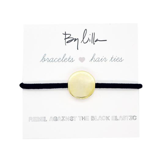 Medallion Black Hair Tie/Bracelet