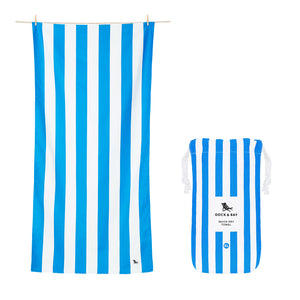"Quick Dry ""Cabana Towel""- Bondi Blue (XL)"