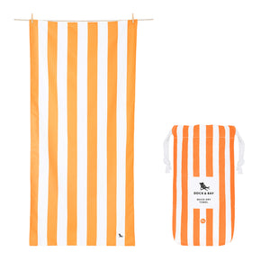 "Quick Dry ""Cabana Towel""- Ipanema Orange (XL)"