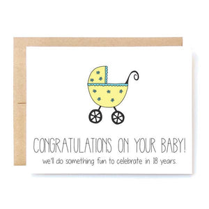 "Baby Congratulations Card - ""New Baby"""