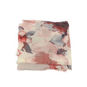 Pink Abstract Floral Scarf