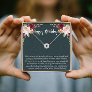 Birthday Necklace- Silver