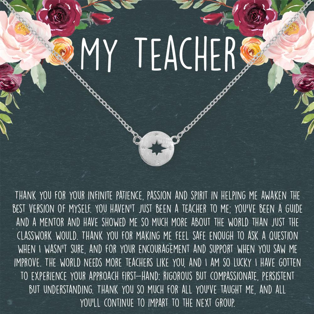 Teacher Necklace-Silver