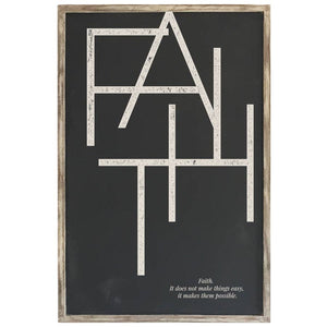 """Faith""-Framed Wood Sign"