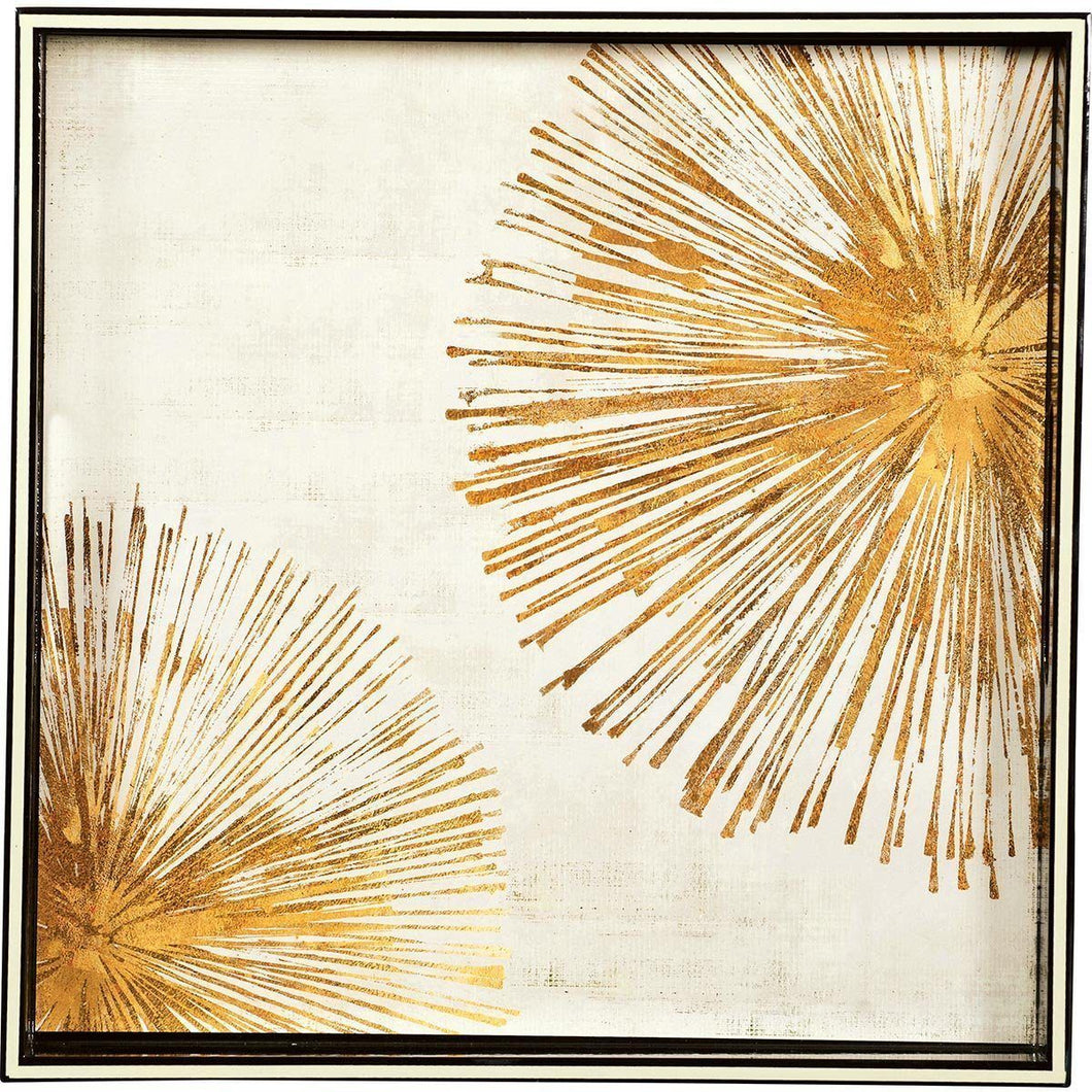 Gold Sunbursts Square Tray