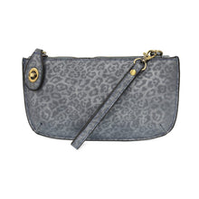 Load image into Gallery viewer, Tonal Leopard Crossbody Wristlet Clutch- Chambray