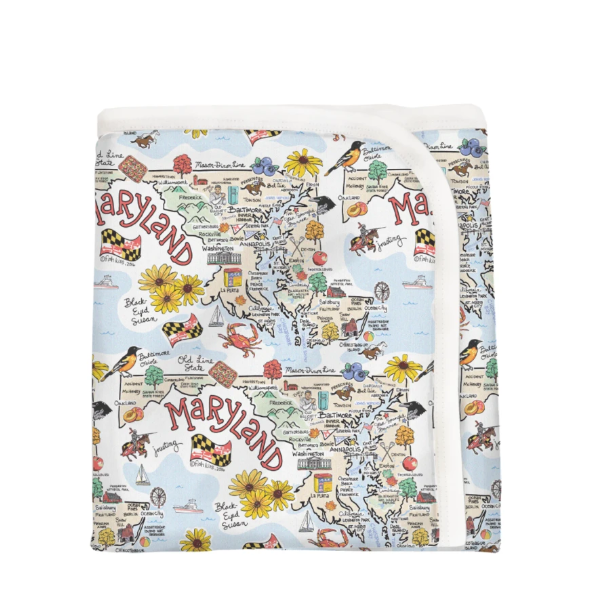 Maryland Map Baby Blanket