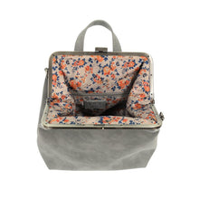 Load image into Gallery viewer, Phyllis Nubuck Frame Convertible Backpack- French Grey