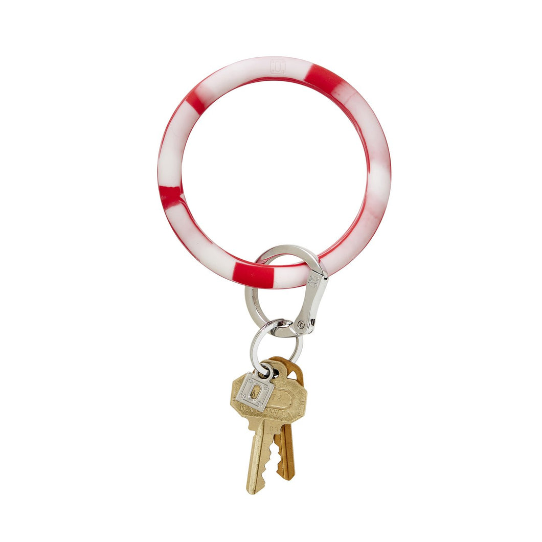 Big O Silicone Key Ring- Cherry On Top Marble