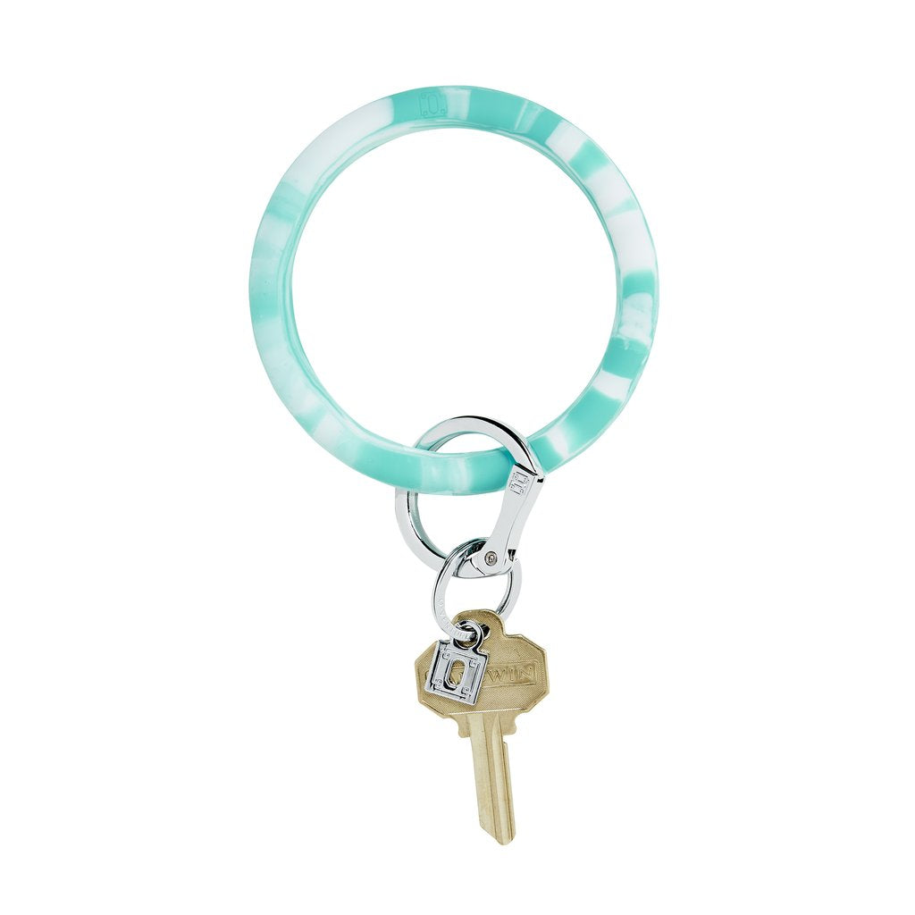 Big O Silicone Key Ring- In the Pool Marble