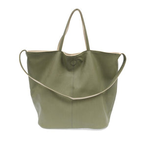 Riley Reversible Slouchy Hobo Handbag-Sage