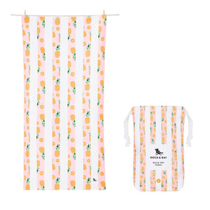 "Quick Dry ""Fruity Towel""-Playful Pineapple (XL)"