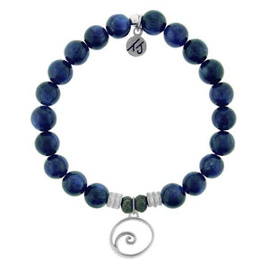TJ Beaded Bracelet- Kyanite with Wave