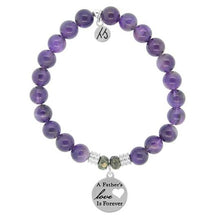 Load image into Gallery viewer, TJ Beaded Bracelet- Amethyst with Father's Love