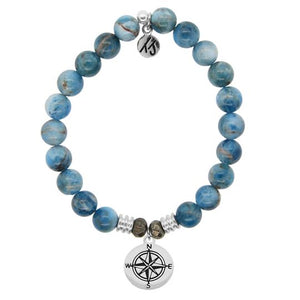 TJ Beaded Bracelet- Arctic Apatite with Compass
