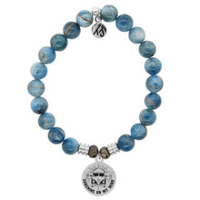 Load image into Gallery viewer, TJ Beaded Bracelet- Arctic Apatite with Life's a Journey