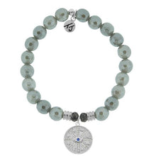 Load image into Gallery viewer, TJ Beaded Bracelet- Grey Agate with Protection