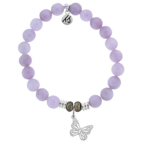TJ Beaded Bracelet- Kunzite with Butterfly