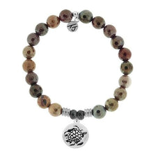 Load image into Gallery viewer, TJ Beaded Bracelet- Mookaite with Turtle