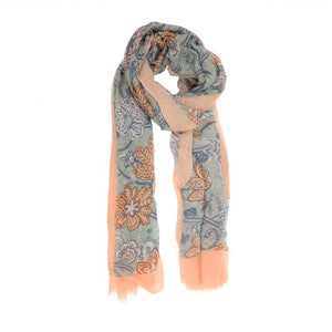 Tapestry Scarf- Blush/Grey
