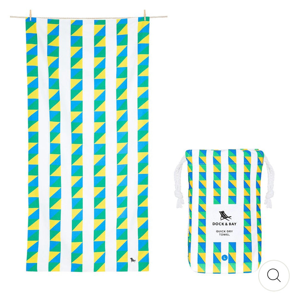 QUICK DRY BEACH TOWEL - FESTIVAL COLLECTION- CARNIVAL (XL)