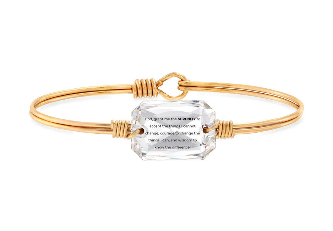 Serenity Prayer Bangle Bracelet - Brass