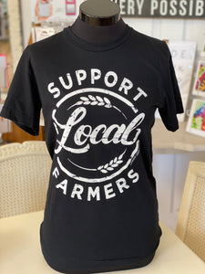 """Support Local Farmers""- Graphic Tee (Black)"