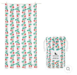 QUICK DRY BEACH TOWEL - JUNGLE COLLECTION - TRUNK IN LOVE (XL)