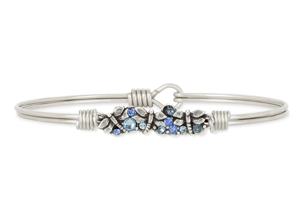 Dragonfly Medley Bangle Bracelet - Silver