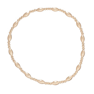 Harmony Sincerity Pattern 2mm Bead Bracelet - Gold