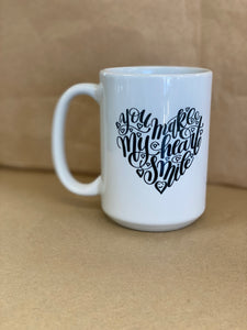 """You make my heart smile"" Coffee Mug"