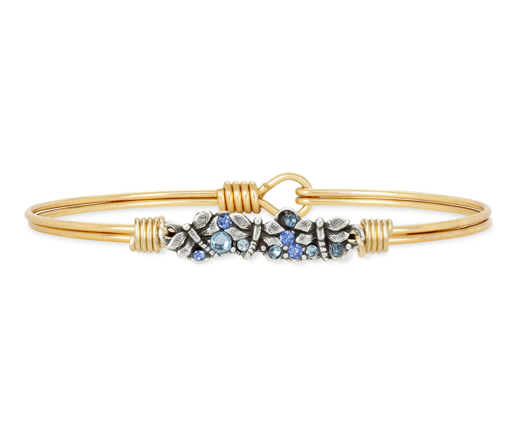 Dragonfly Medley Bangle Bracelet -Brass