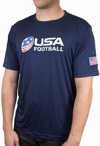 USA Football Performance Shirt - Navy