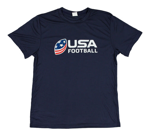 USA Football Youth Performance Shirt - Navy