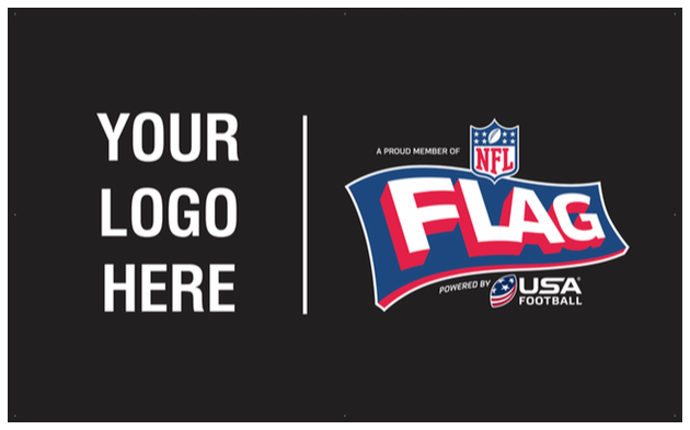 NFL FLAG Powered by USA Football - Customized Logo Lock 3'X5' Banner