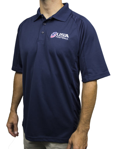 USA Football Dri-Mesh Polo - Navy