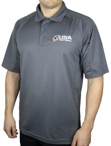 USA Football Dri-Mesh Polo - Gray