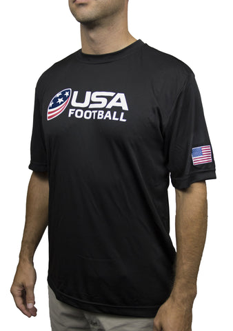 USA Football Performance Shirt - Black