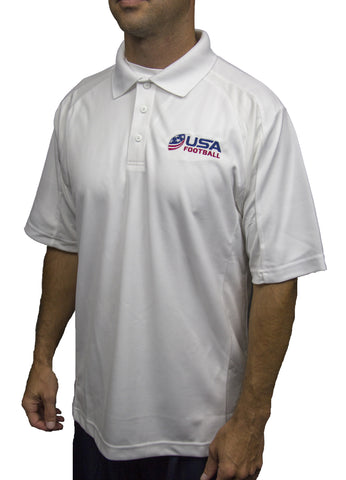 USA Football Dri-Mesh Polo - White