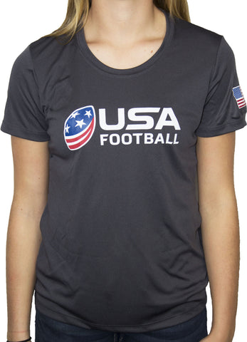 USA Football Women's Performance Shirt - Gray