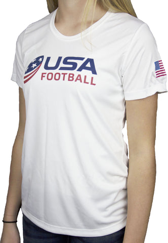 USA Football Women's Performance Shirt - White